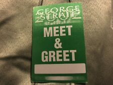 George strait in music memorabilia ebay george strait 2002 tour meet greet pass green m4hsunfo Gallery