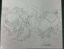 KELLEY JARVIS Looney Toons Original Artwork Sketch One of a Kind 17x14 Sylvester