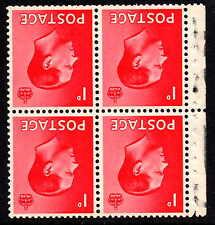 1936 Edward Viii Definitive Booklet Part Pane Inverted Watermark Sg458Wi Un/Mint