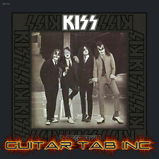 Kiss Digital Guitar Tab DRESSED TO KILL Lessons Disc Ace Frehley Paul Stanley