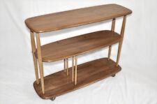 Vintage retro 60's Ercol ercol windsor bookcase shelving unit trolley divider