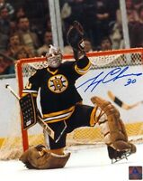 BOSTON BRUINS GERRY CHEEVERS SIGNED 8x10 PHOTO w/COA