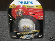 6 ft. Philips Stereo Audio Cable TV AV Receiver NEW!