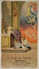 SANTINO HOLY CARD SAN NICOLA DA TOLENTINO AGOSTINIANO 1917 #SA513