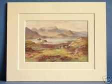 CASTLE KIRKE AND UPPER LOUGH CORRIB CONNAUGHT DOUBLE MOUNTED VINTAGE PRINT 10X8