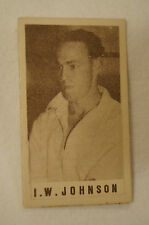 1940's Vintage G.J.Coles Cricket Card - I.W. Johnson - Victoria.