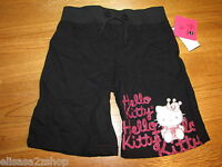 Girls Hello Kitty Princess Black long Shorts 4 youth NEW Girl's HK55450 NWT^^