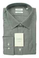New Enro 17 x 32/33 Men's Non-Iron Dress Shirt | Black