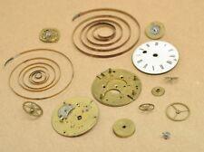 Antique Vtg Robin A Paris Pocket Watch Parts Enamel Face Steampunk Lot