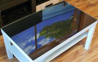 Originale venezianischer Spiegel für Tisch LED 3D Table Infinity 550/900/4mm