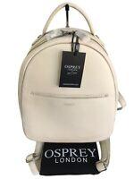 OSPREY LONDON Madison Backpack Stone Nappa Leather Medium NEW RRP £225