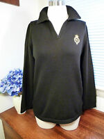 Lauren Ralph Lauren Petite Black Cotton Sweater Size PP