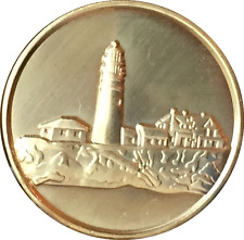 Fog Light Prayer Lighthouse Clean Bronze Medallion AA NA Sobriety Chip Coin