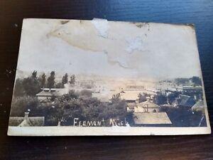 1910 View of Fremont Michigan RPPC Photo Postcard