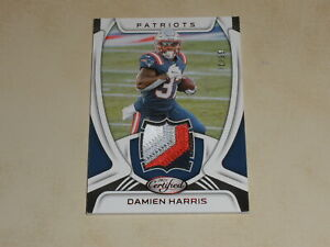 2021 Panini Certified Damien Harris 4 Color Player Worn Patch /99 PATRIOTS