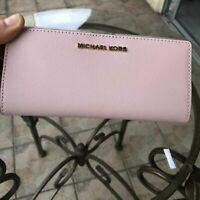 Michael Kors Bifold Leather Wallet Women Slim Clutch Card Case Holder Long Purse