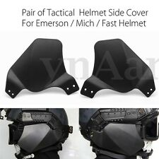Airsoft Painball Tactical Side Cover Rail Ear Protection For Mich Fast Helmet
