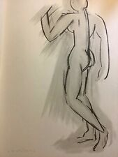 Rare Henri Matisse Nude Drawing Lithograph Litho Old Wall Art Print Vintage 1949
