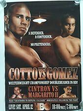 Miguel Cotto vs Gomez HBO Boxing Poster 4/12/08 Boardwalk Hall Atlantic City NJ