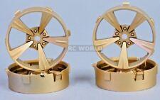 Tetsujin Mandarin RC Car 1/10 Wheels GOLD Adjustable Offset  3-6-9mm -4 RIMS