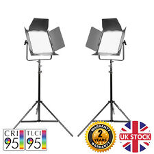 VNIX 1500S TWIN KIT LED Panel Video Lights Dimmable Remote Film Interview 5500K