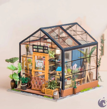 Robotime Miniature Dollhouse Wooden DIY House Kit Gift (CATHY'S FLOWER HOUSE)