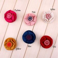"120pcs 2"" Fabric Rolled Center Flower Accessories Chic Cute Candy Flowers"