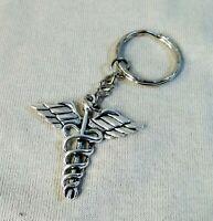 Medical symbol, Caduceus Key Ring