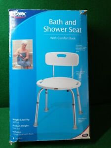 Carex Adjustable Bath & Shower Seat with Back #B65100
