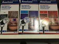 Americana Projection Kaleidoscope Led Red White & Blue Set Lights Nib
