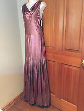 VERA WANG Couture /PINK  SLICK SLEEVELESS COWL NECK FULLY LINED GOWN sz 4  38