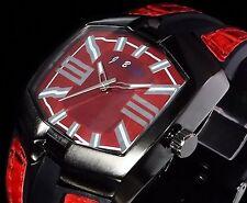 Jay Baxter Silicon Uhr Herrenuhr Armband Uhr Schwarz Rot