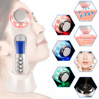 5 In 1 Ultrasonic Ion Face Skin Lift Beauty Device Ultrasound Anti-aging White