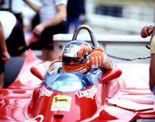 OLD RACING PHOTO Gilles Villeneuve In The Ferrari T5 At The South African GP 1