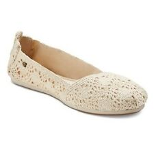 Mad Love Womens Lynnae Natural Crochet Flat Shoe Size 5/6 NWT