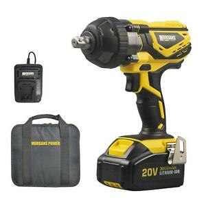 Electric Cordless Impact Wrench + 3.0Ah Li-ion 20V MAX Battery & Charger, 300Nm