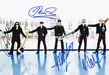 THE SCORPIONS - 4 X SIGNED IN PERSON AUTOGRAMME AUTOGRAPHS GF 20 x 29,5 CM