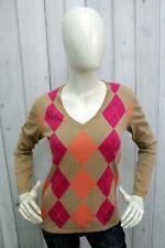 TOMMY HILFIGER Taglia M Maglione Donna Sweater Cotone Pullover Pull Casual
