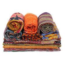 Handmade Vintage Kantha Quilts Ralli Gudri Blanket Indian Reversible Throw 25 PC