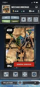 Topps star wars SWCT Digital Monument Award General Grievous CC6