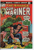 Marvel Comics  The Sub-Mariner #72 Sept. 1974  VF- MVS intact, 1st Slime-Thing