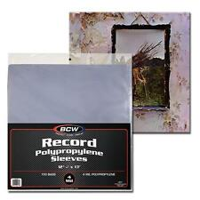100 BCW Record Sleeves Plastic Outer 33 RPM LP Covers Album Holders 4 MIL THICK