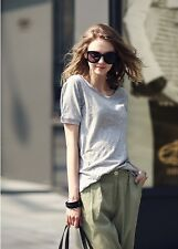 New Lady Women's Fashion Short Sleeve O-Neck Casual Loose T-Shirt Top Blouse