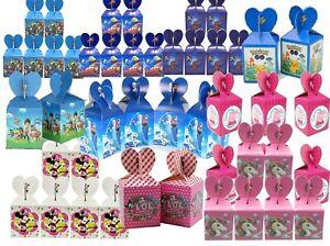 Boys Girls Cartoon Candy Pop Corn Sweet Gift Character Birthday Treat Box