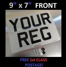 "9"" x 7"" FRONT CAR NUMBER PLATE  100% MOT & ROAD LEGAL"