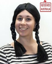 Gothic School Girl Wig with Black Plaits. perfect cheap n free freight!!!