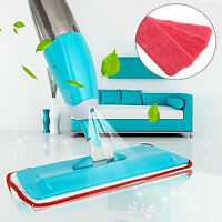 Water Spray Household Flat Mop Floor Cleaner 360° Spin Head with Cleaning Pad