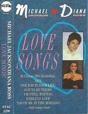Michael Jackson Diana Ross Love Songs CASSETTE ALBUM Telstar STAC 2298 UK 1987