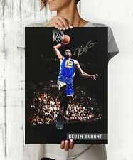 Kevin Durant NBA Superstar Autographed Poster Print. A3 A2 A1 Sizes