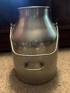 Vintage DeLaval Stainless Steel 5 Gallon Milk Dairy Cream Can Pail Bucket Used
